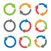 Pijl cirkels — Stockvector