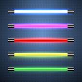 Neon lamps — Stock Vector