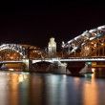 Steel bridge — Stock Photo #3578404