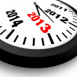 2013 Concept New Year Clock — Stock Photo #12657419