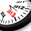 2013 Concept New Year Clock — Stock Photo #12657430