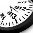 2013 Concept New Year Clock — Stock Photo