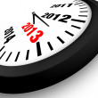 2013 Concept New Year Clock — Stock Photo #12657452