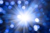 Abstrakten blauen christmas hintergrund unscharf gestellt — Stockfoto
