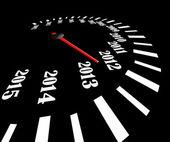 Conceptual 2013 year speedometer — Stock Photo