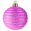 Royalty-Free Stock Photo: Pink christmas ball on white background