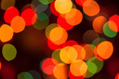 Defocused abstract lights christmas background — Stock Photo