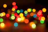 Defocused abstract lights christmas background — Foto Stock