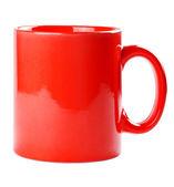 Red mug empty blank for coffee or tea — Stock Photo