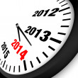 2014 New Year clock — Stock fotografie
