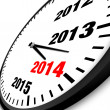 Stock Photo: 2014 New Year clock