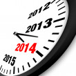 2014 New Year clock — Stock Photo