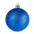 Blue dull christmas ball — Stock Photo