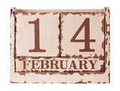 Calendario día de san valentín — Foto de Stock
