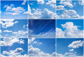 Sky daylight collection. — 图库照片