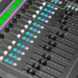 Stock Photo: Audio Mixing Console