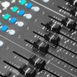 audio mixing console — Stockfoto