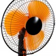 New orange fan — Stock fotografie