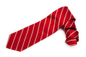Red checkered tie — Stock Photo