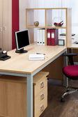 Monitor on desk — Stock Photo