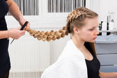 Weave braid girl — Stock Photo