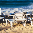 Deckchairs on beach — Stock Photo #19475639