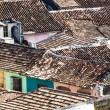 Foto Stock: Tiled roofs in city