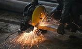Cutting metal — Stock Photo