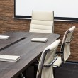 Conference table with the screen — Stock Photo