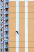 Steeplejacks on a concrete wall — Stock Photo