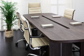 Large table and chairs — Stock Photo