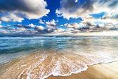 κίτρινες αμμώδη παραλία — Φωτογραφία Αρχείου