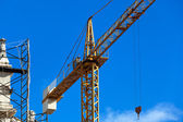 Crane on the reconstruction — Foto Stock