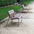 Benches in alley — Stock Photo