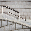 Staircase with a handrail — Stockfoto