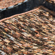 Stock Photo: Old tiled roofs