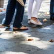 Turn on the sidewalk — Stockfoto