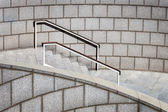 Staircase with a handrail — Stok fotoğraf