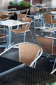 Tables and chairs — 图库照片