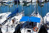 Modern yachts — Stock Photo