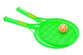 Racket and ball — Stock Photo