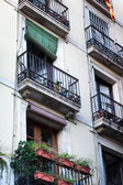 Balconies of the old building — Stock Photo