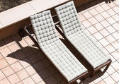 Two sunbeds — Stock Photo