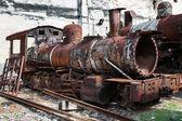 Rusty steam locomotive — Stock Photo