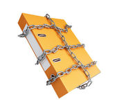 Chain folder on a white background — Stock Photo