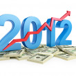 The successful growth of profits in the business in 2012 — Stock Photo