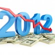 Falling profits in 2012 — Stock Photo #12427564