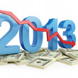 Economic recession in 2013 — Stockfoto