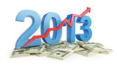 Successful growth of profits in the business in 2013 — Stock Photo