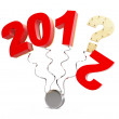 New year 2013 on a white background — Stock Photo #13451881